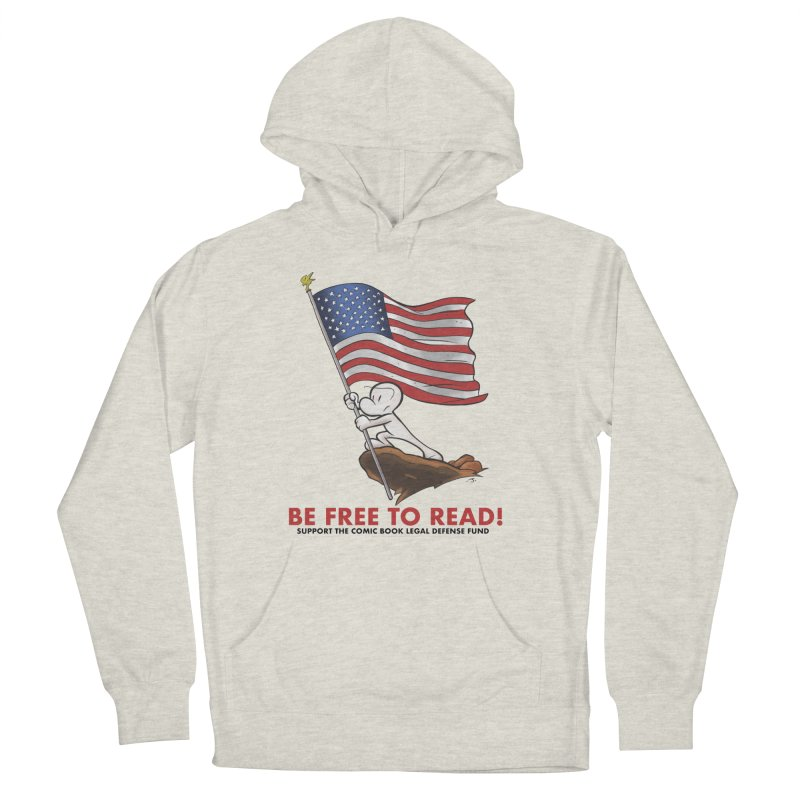 BONE with FLAG by JEFF SMITH Men's French Terry Pullover Hoody by COMIC BOOK LEGAL DEFENSE FUND