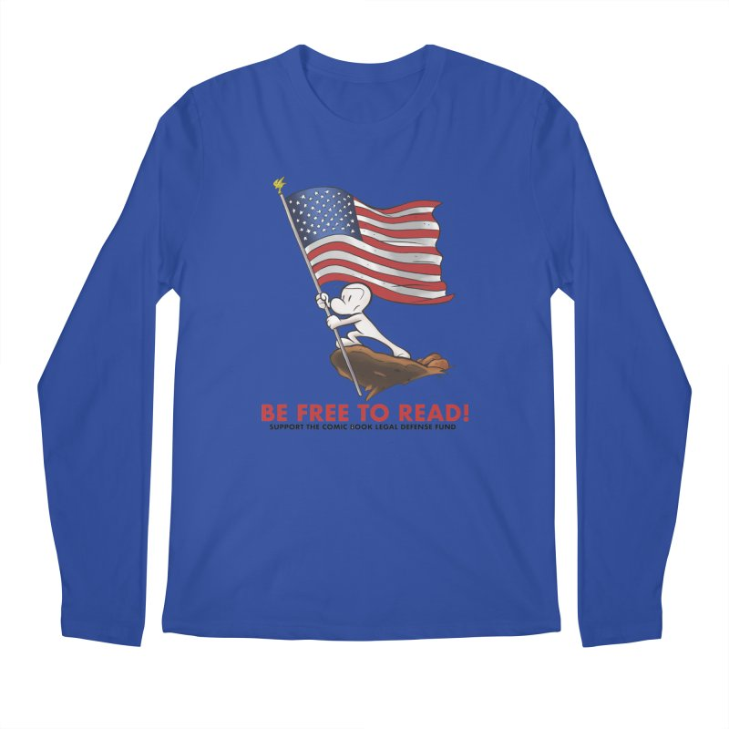 BONE with FLAG by JEFF SMITH Men's Longsleeve T-Shirt by COMIC BOOK LEGAL DEFENSE FUND