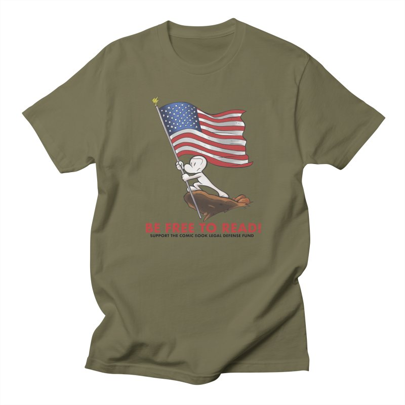 BONE with FLAG by JEFF SMITH Women's Unisex T-Shirt by COMIC BOOK LEGAL DEFENSE FUND