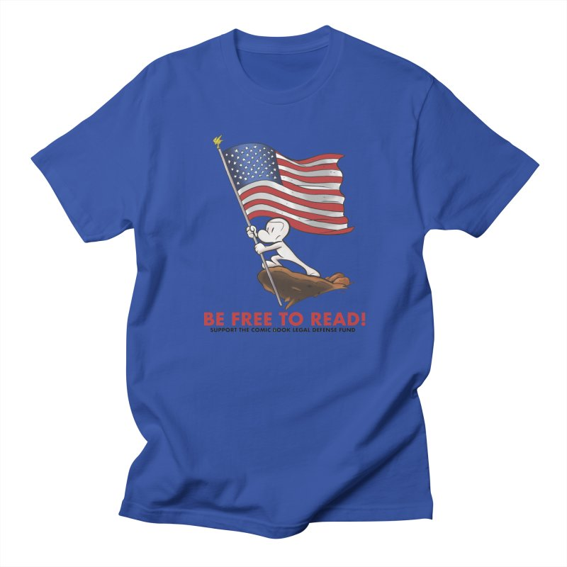 BONE with FLAG by JEFF SMITH Men's Regular T-Shirt by COMIC BOOK LEGAL DEFENSE FUND