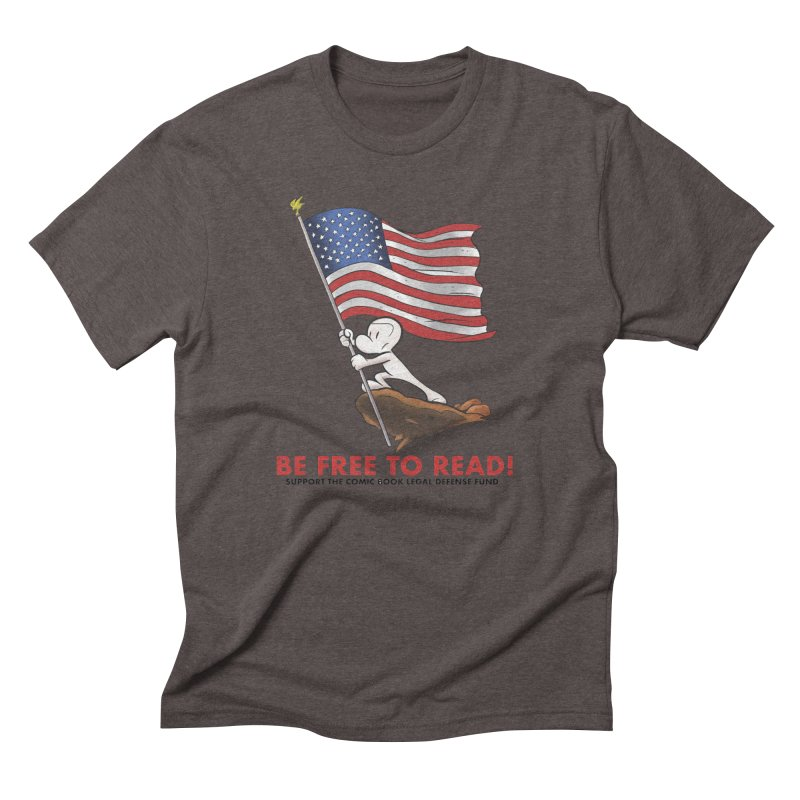 BONE with FLAG by JEFF SMITH Men's Triblend T-Shirt by COMIC BOOK LEGAL DEFENSE FUND