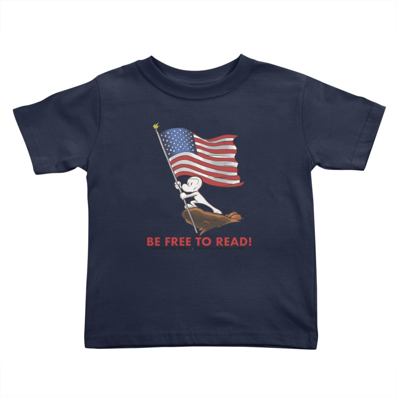 BONE with FLAG by JEFF SMITH Kids Toddler T-Shirt by COMIC BOOK LEGAL DEFENSE FUND