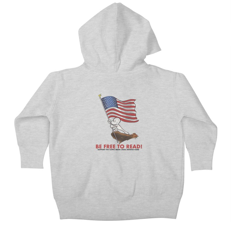 BONE with FLAG by JEFF SMITH Kids Baby Zip-Up Hoody by COMIC BOOK LEGAL DEFENSE FUND