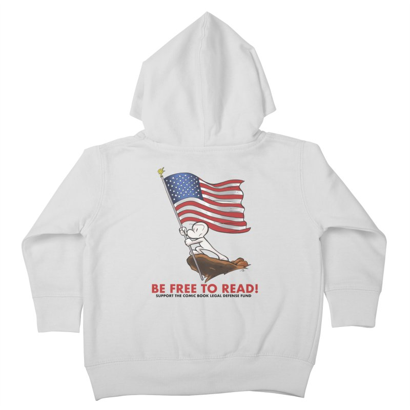 BONE with FLAG by JEFF SMITH Kids Toddler Zip-Up Hoody by COMIC BOOK LEGAL DEFENSE FUND