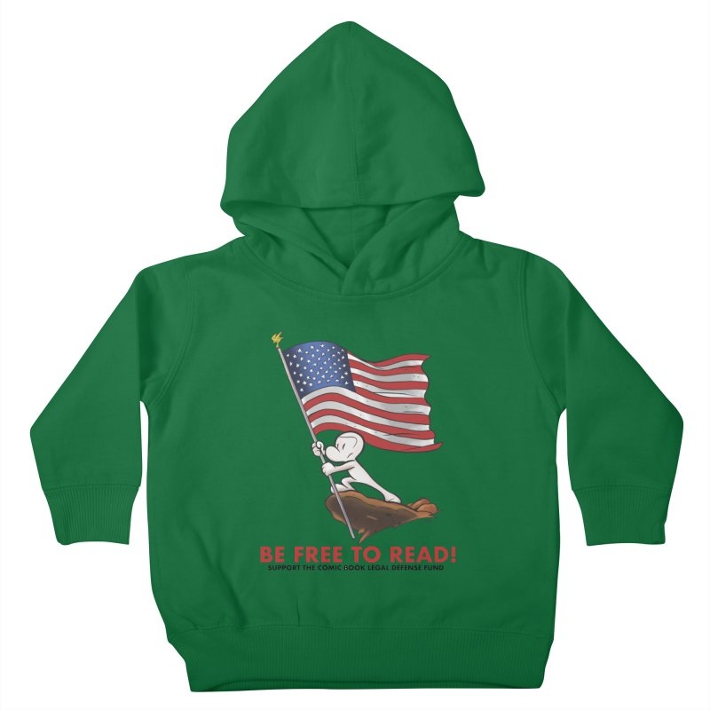 BONE with FLAG by JEFF SMITH Kids Toddler Pullover Hoody by COMIC BOOK LEGAL DEFENSE FUND