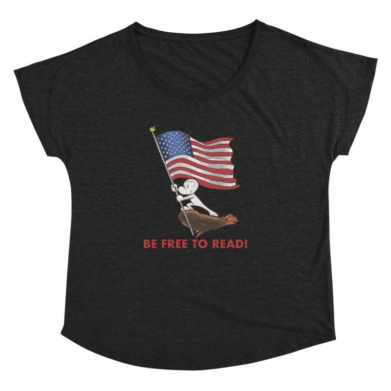 BONE with FLAG by JEFF SMITH Women's Dolman by COMIC BOOK LEGAL DEFENSE FUND