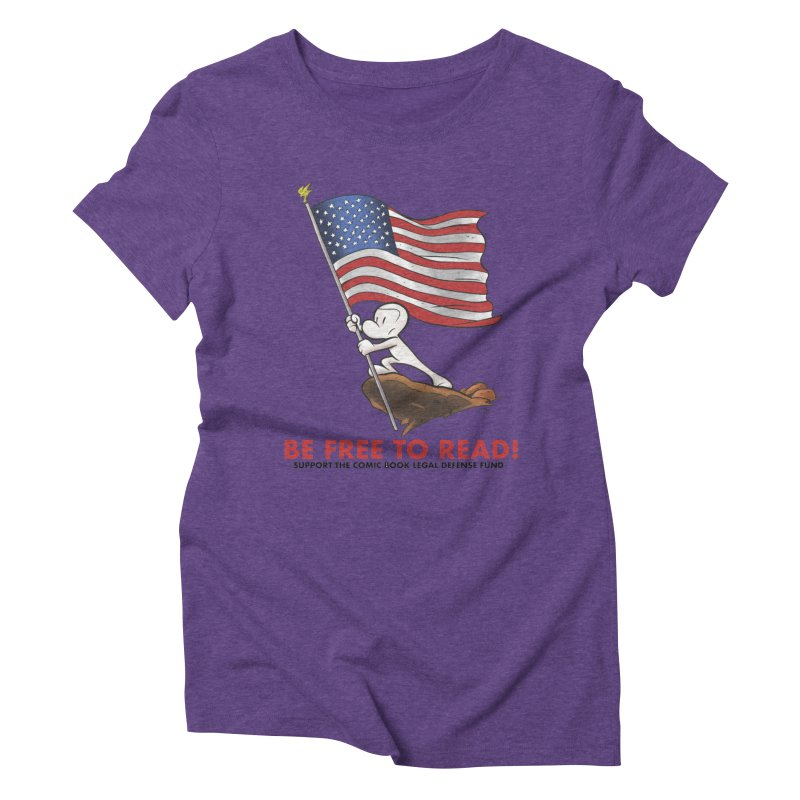 BONE with FLAG by JEFF SMITH Women's Triblend T-Shirt by COMIC BOOK LEGAL DEFENSE FUND