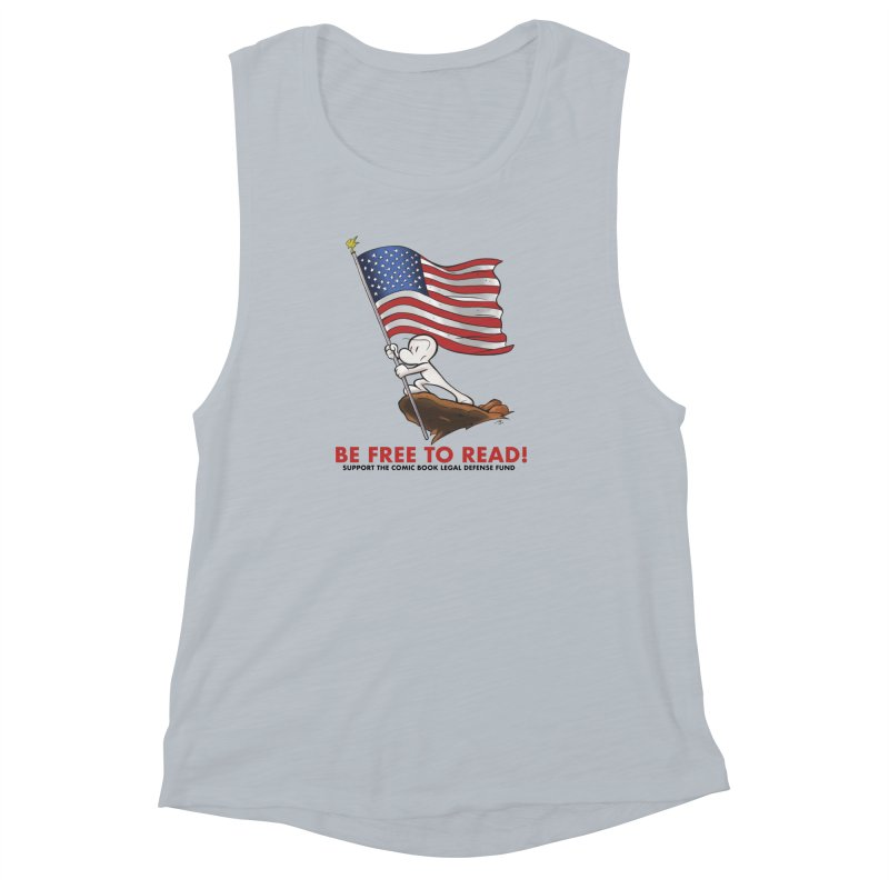 BONE with FLAG by JEFF SMITH Women's Muscle Tank by COMIC BOOK LEGAL DEFENSE FUND