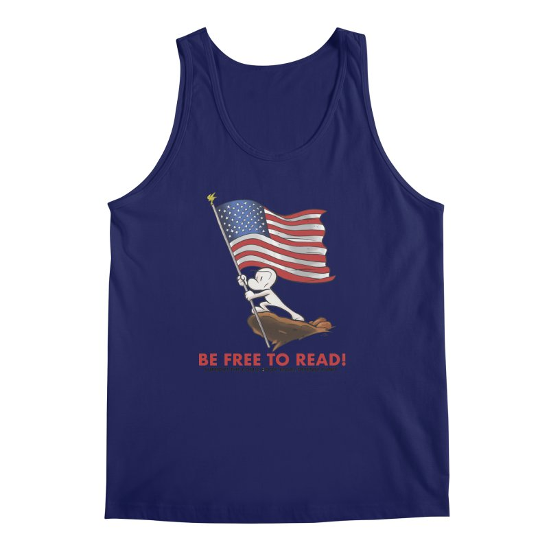 BONE with FLAG by JEFF SMITH Men's Regular Tank by COMIC BOOK LEGAL DEFENSE FUND