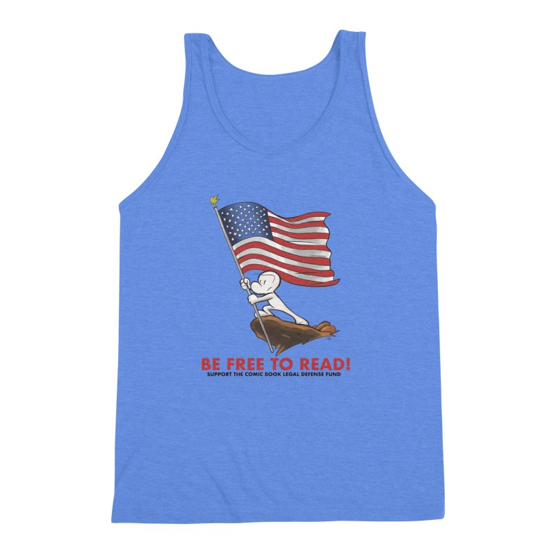 BONE with FLAG by JEFF SMITH Men's Triblend Tank by COMIC BOOK LEGAL DEFENSE FUND