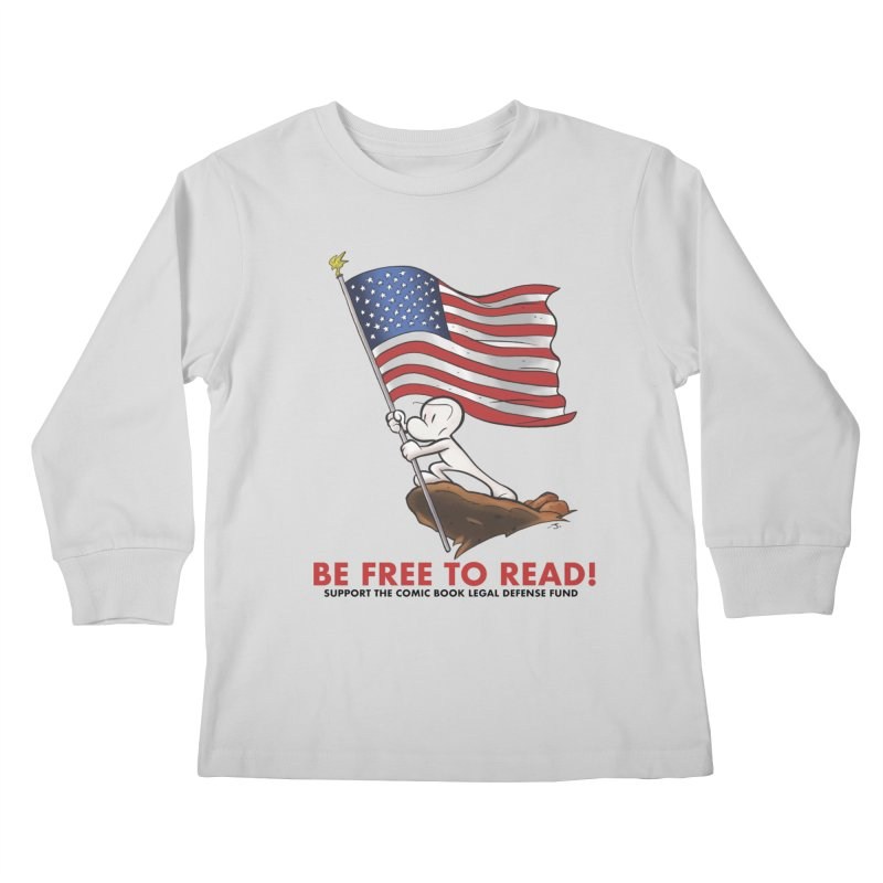 BONE with FLAG by JEFF SMITH Kids Longsleeve T-Shirt by COMIC BOOK LEGAL DEFENSE FUND