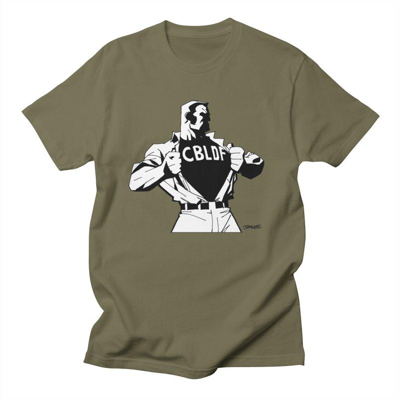 FREE SPEECH HERO by JIM LEE Men's T-Shirt by COMIC BOOK LEGAL DEFENSE FUND