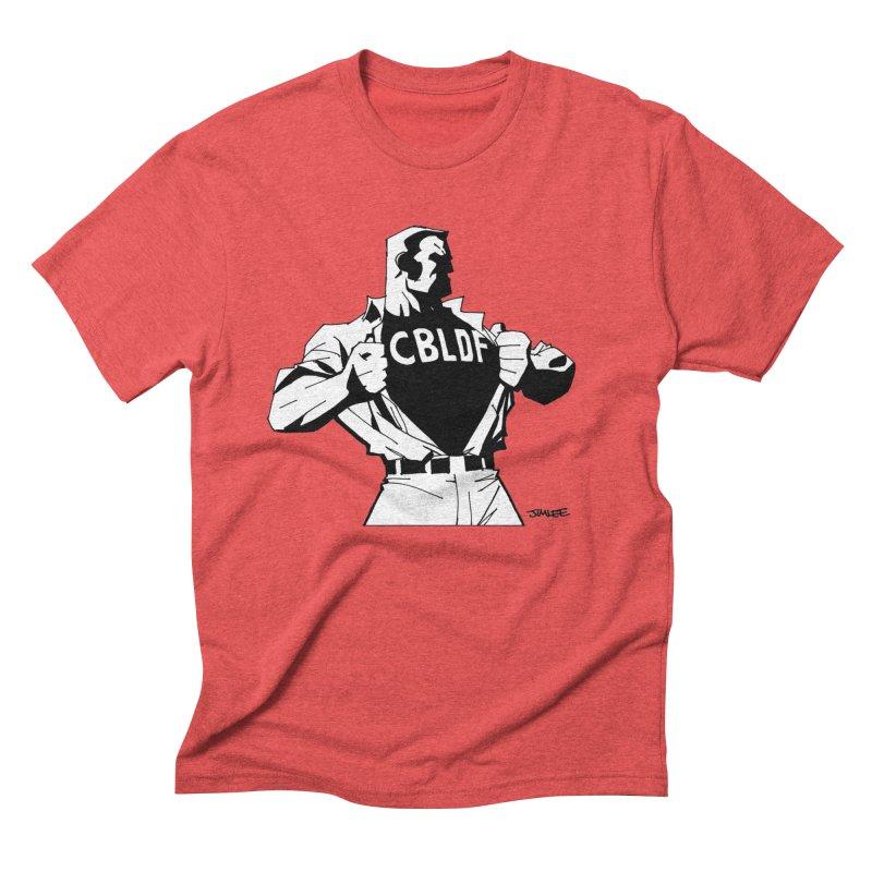 FREE SPEECH HERO by JIM LEE Men's Triblend T-Shirt by COMIC BOOK LEGAL DEFENSE FUND