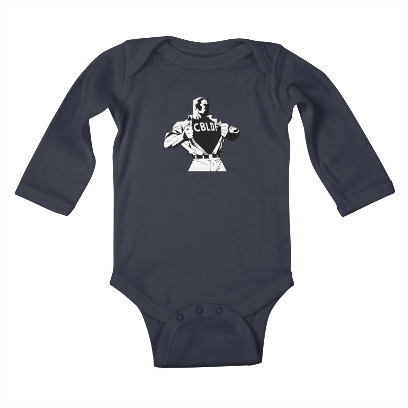 FREE SPEECH HERO by JIM LEE Kids Baby Longsleeve Bodysuit by COMIC BOOK LEGAL DEFENSE FUND