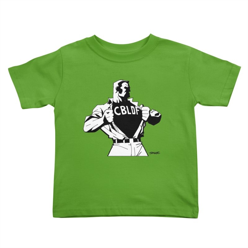 FREE SPEECH HERO by JIM LEE Kids Toddler T-Shirt by COMIC BOOK LEGAL DEFENSE FUND