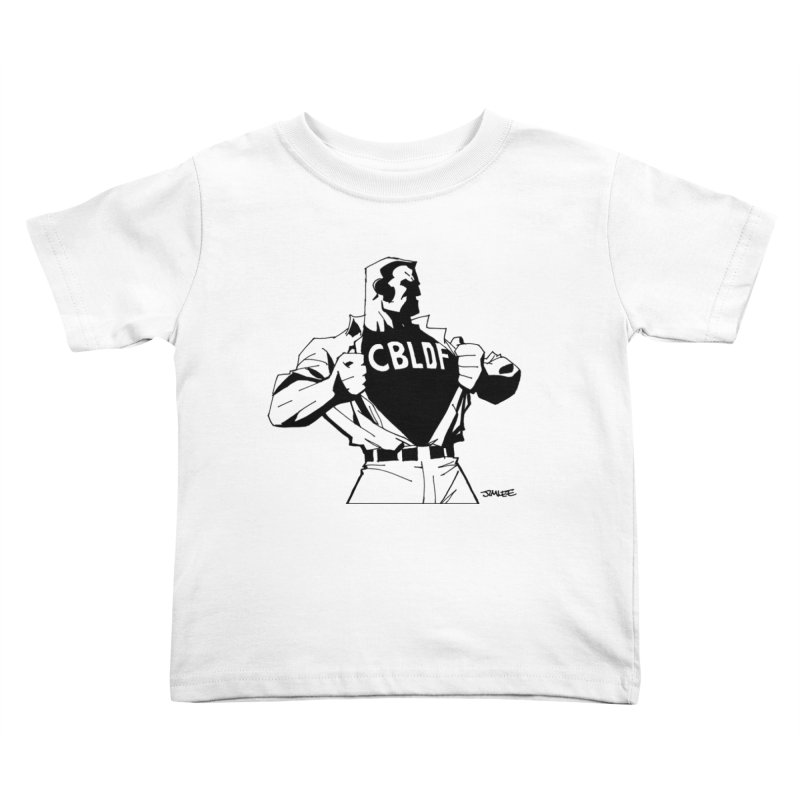 FREE SPEECH HERO by JIM LEE Kids Toddler T-Shirt by COMIC BOOK LEGAL DEFENSE FUND