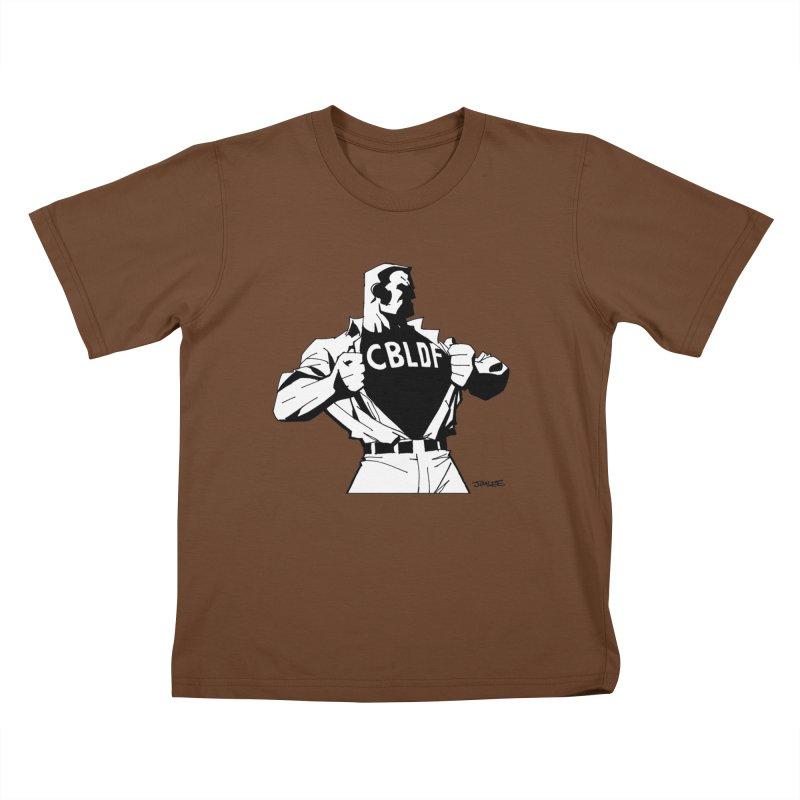 FREE SPEECH HERO by JIM LEE Kids T-Shirt by COMIC BOOK LEGAL DEFENSE FUND