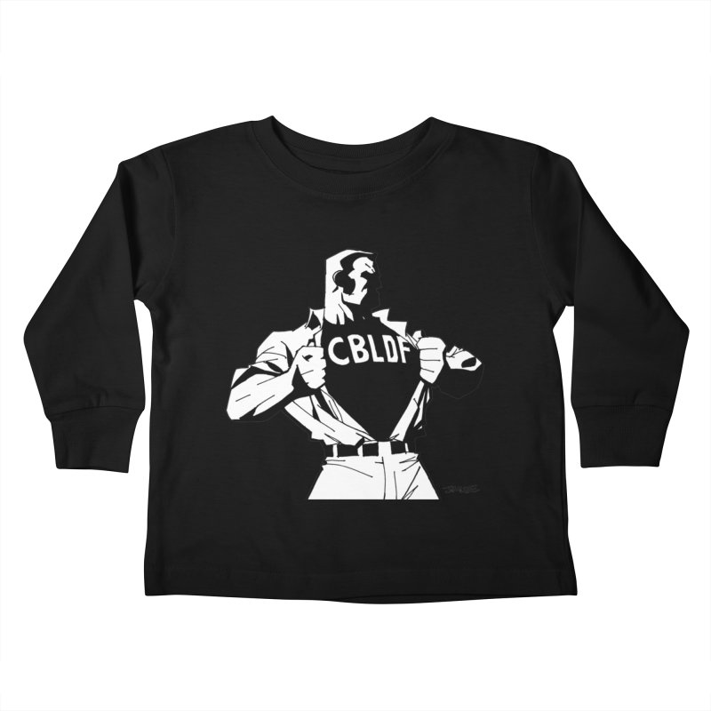 FREE SPEECH HERO by JIM LEE Kids Toddler Longsleeve T-Shirt by COMIC BOOK LEGAL DEFENSE FUND