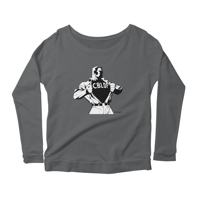 FREE SPEECH HERO by JIM LEE Women's Scoop Neck Longsleeve T-Shirt by COMIC BOOK LEGAL DEFENSE FUND