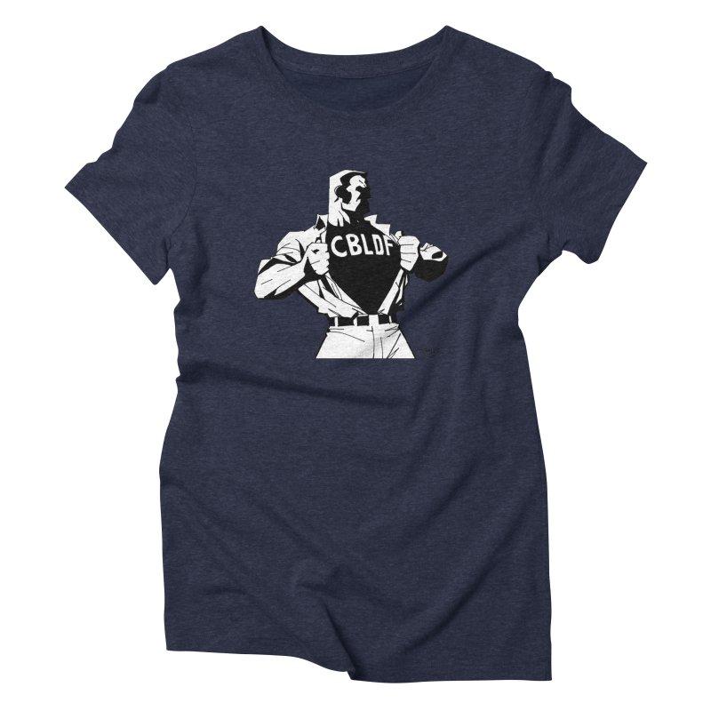 FREE SPEECH HERO by JIM LEE Women's Triblend T-Shirt by COMIC BOOK LEGAL DEFENSE FUND