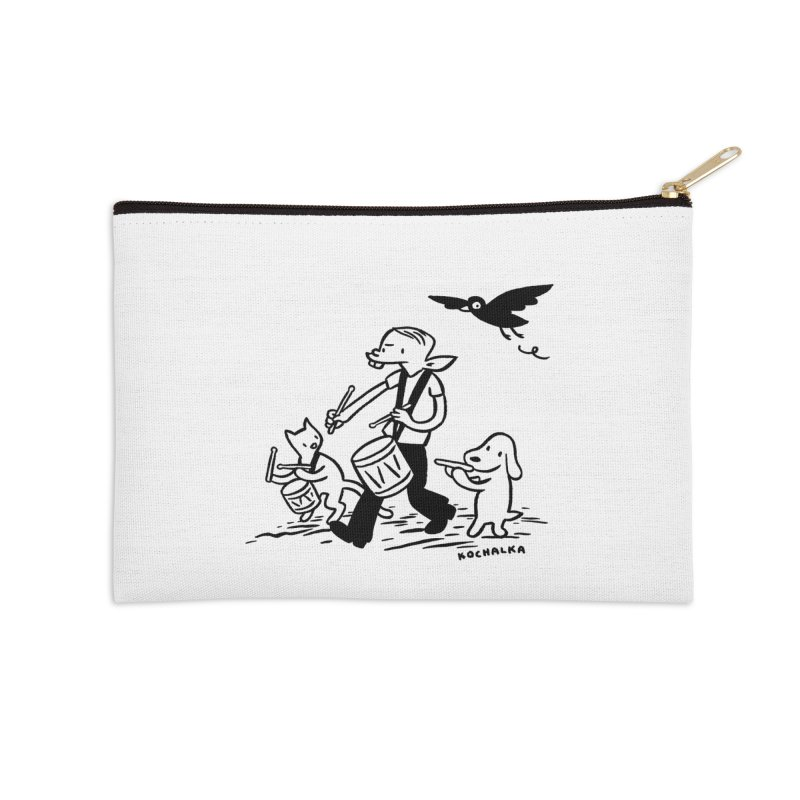 Liberty on the March by James Kochalka Accessories Zip Pouch by COMIC BOOK LEGAL DEFENSE FUND