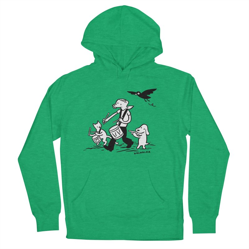 Liberty on the March by James Kochalka Women's French Terry Pullover Hoody by COMIC BOOK LEGAL DEFENSE FUND