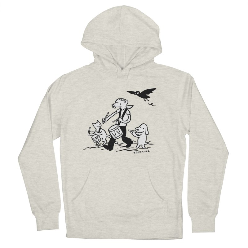 Liberty on the March by James Kochalka Men's French Terry Pullover Hoody by COMIC BOOK LEGAL DEFENSE FUND