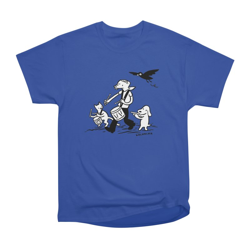 Liberty on the March by James Kochalka Men's Heavyweight T-Shirt by COMIC BOOK LEGAL DEFENSE FUND