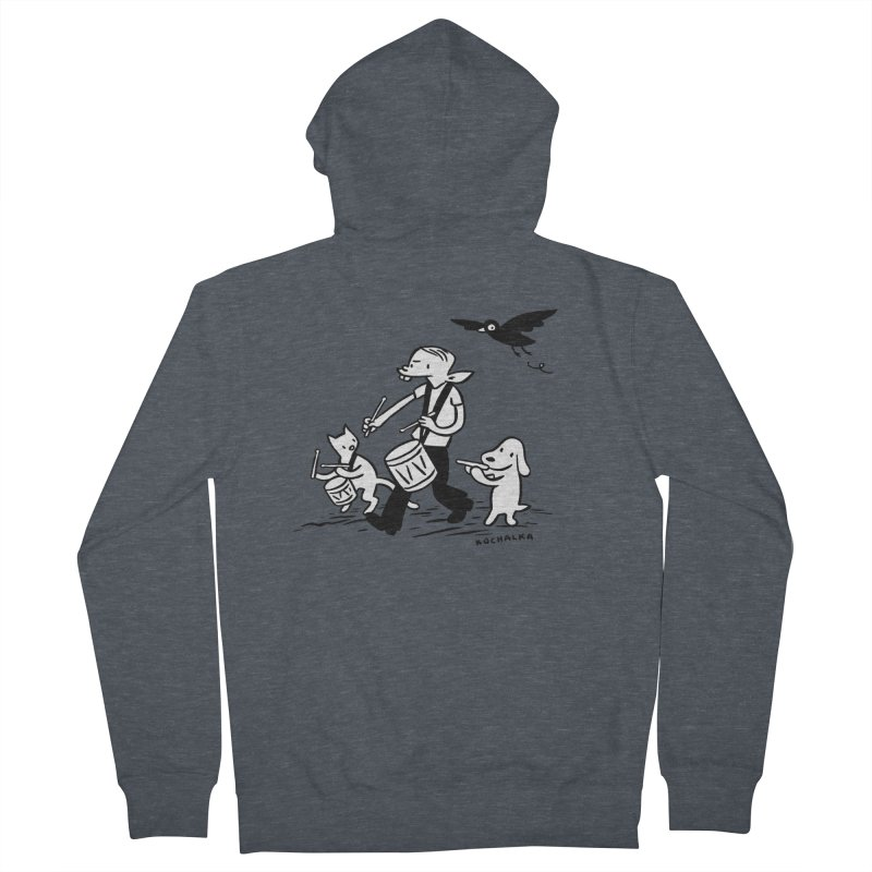 Liberty on the March by James Kochalka Women's French Terry Zip-Up Hoody by COMIC BOOK LEGAL DEFENSE FUND