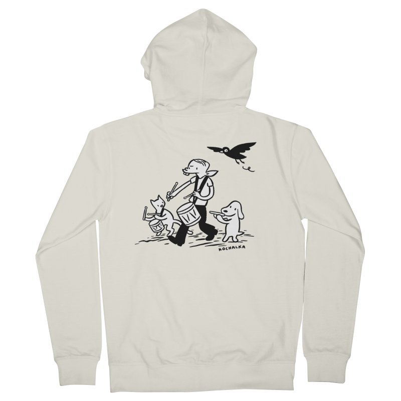 Liberty on the March by James Kochalka Men's French Terry Zip-Up Hoody by COMIC BOOK LEGAL DEFENSE FUND