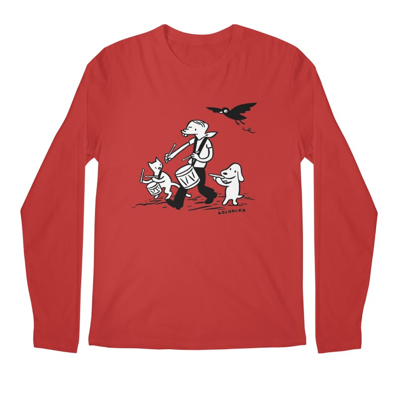 Liberty on the March by James Kochalka Men's Regular Longsleeve T-Shirt by COMIC BOOK LEGAL DEFENSE FUND