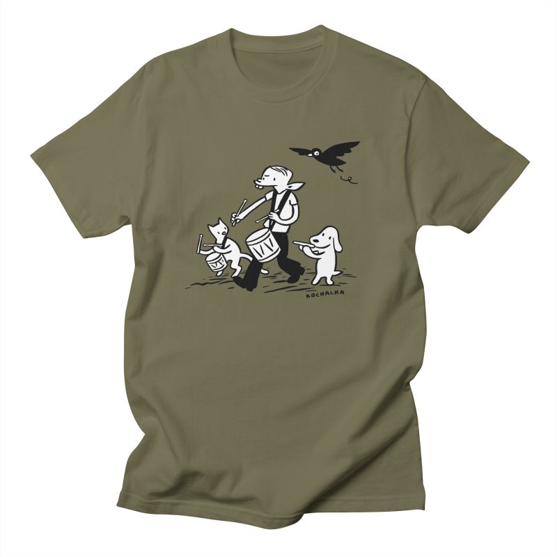 Liberty on the March by James Kochalka Women's Unisex T-Shirt by COMIC BOOK LEGAL DEFENSE FUND