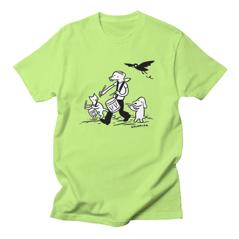 Liberty on the March by James Kochalka Women's Regular Unisex T-Shirt by COMIC BOOK LEGAL DEFENSE FUND