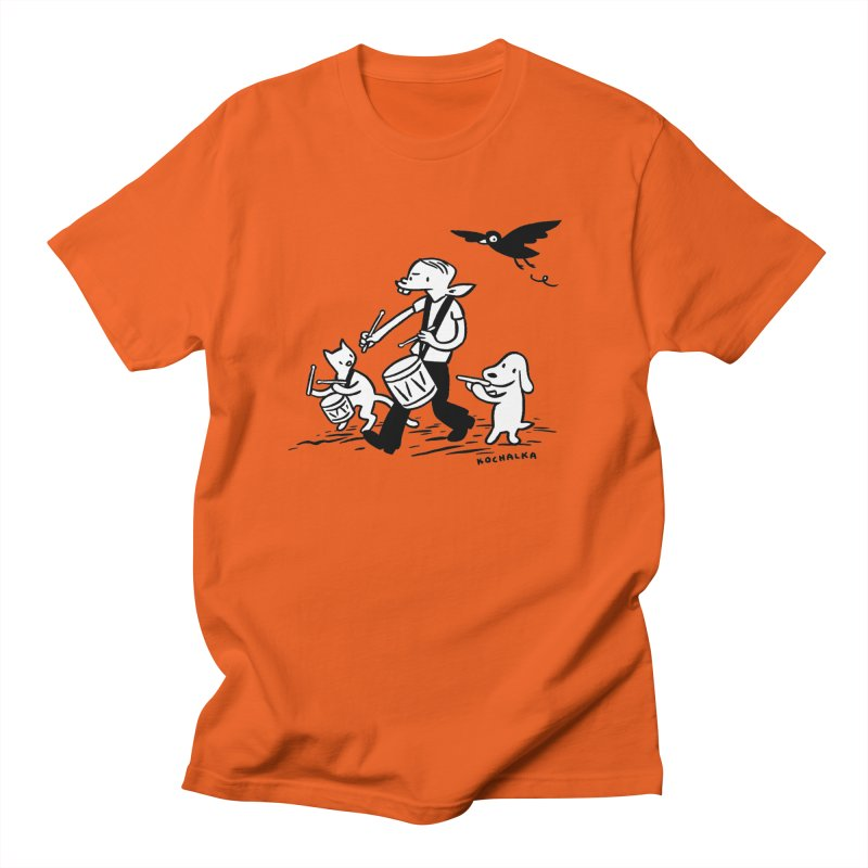 Liberty on the March by James Kochalka Men's T-Shirt by COMIC BOOK LEGAL DEFENSE FUND