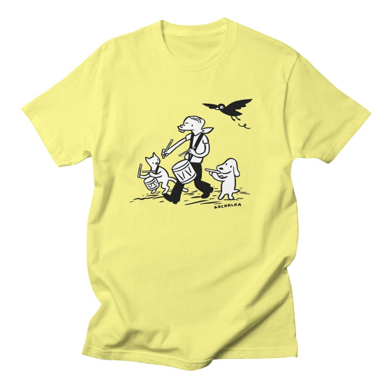 Liberty on the March by James Kochalka Men's Regular T-Shirt by COMIC BOOK LEGAL DEFENSE FUND