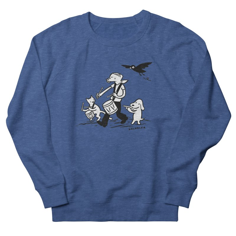 Liberty on the March by James Kochalka Women's French Terry Sweatshirt by COMIC BOOK LEGAL DEFENSE FUND