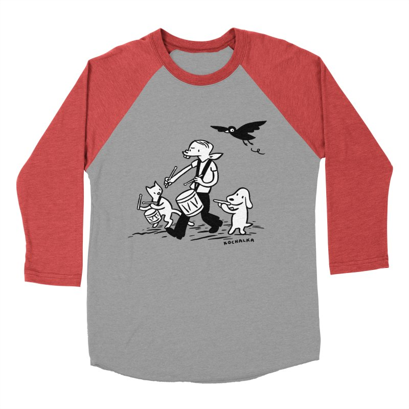 Liberty on the March by James Kochalka Women's Baseball Triblend Longsleeve T-Shirt by COMIC BOOK LEGAL DEFENSE FUND