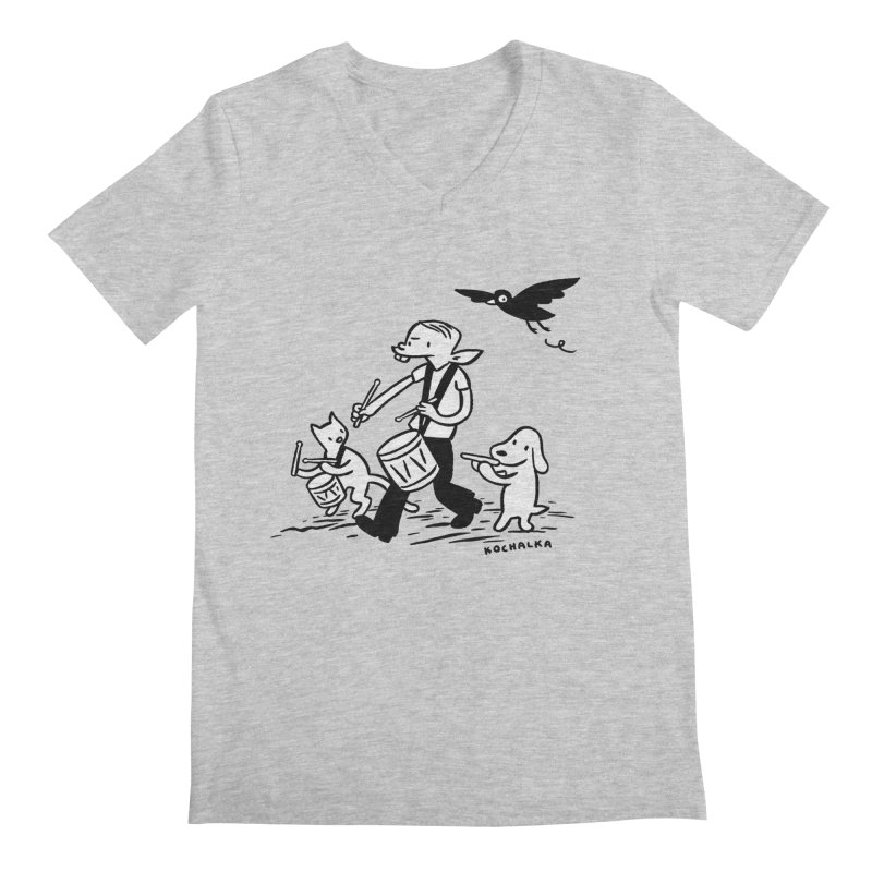 Liberty on the March by James Kochalka Men's V-Neck by COMIC BOOK LEGAL DEFENSE FUND