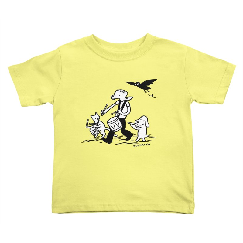 Liberty on the March by James Kochalka Kids Toddler T-Shirt by COMIC BOOK LEGAL DEFENSE FUND
