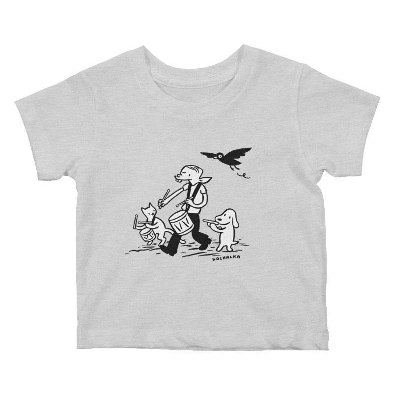 Liberty on the March by James Kochalka Kids Baby T-Shirt by COMIC BOOK LEGAL DEFENSE FUND