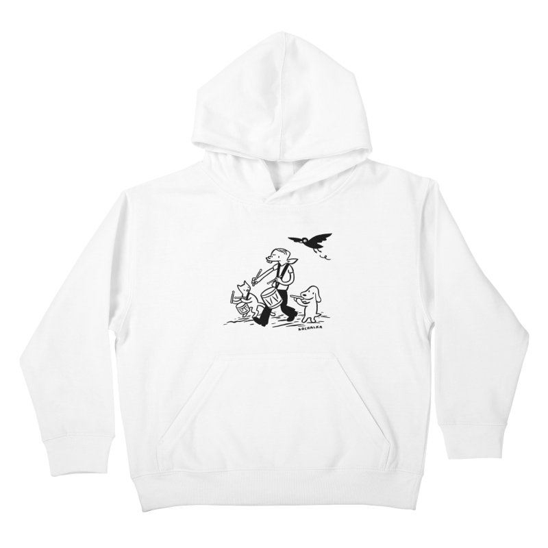 Liberty on the March by James Kochalka Kids Pullover Hoody by COMIC BOOK LEGAL DEFENSE FUND