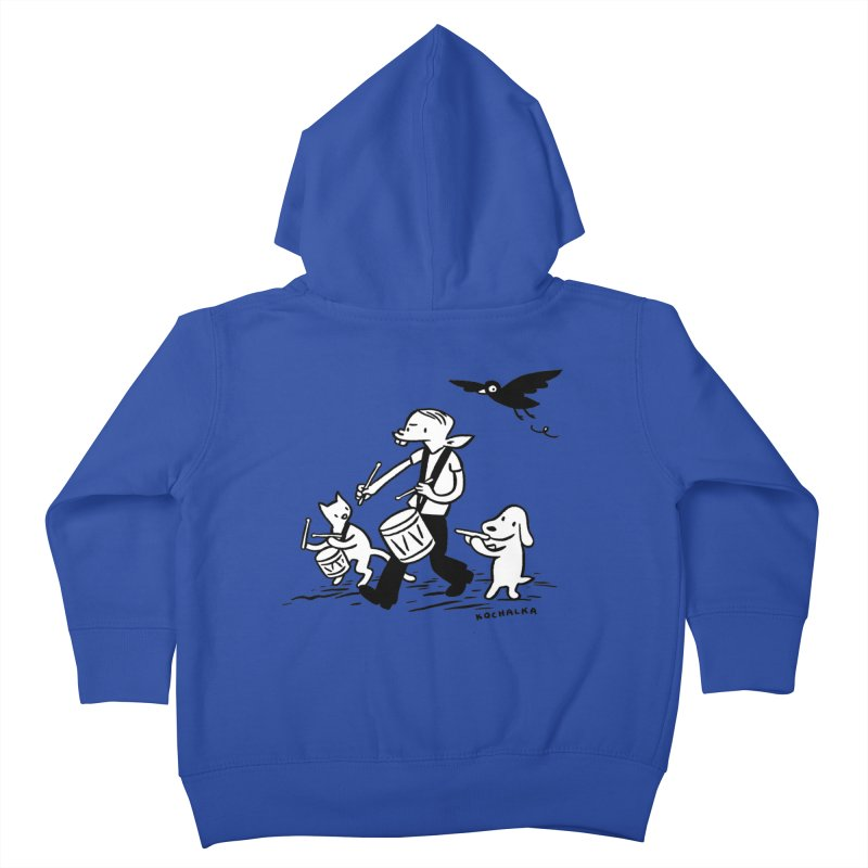 Liberty on the March by James Kochalka Kids Toddler Zip-Up Hoody by COMIC BOOK LEGAL DEFENSE FUND