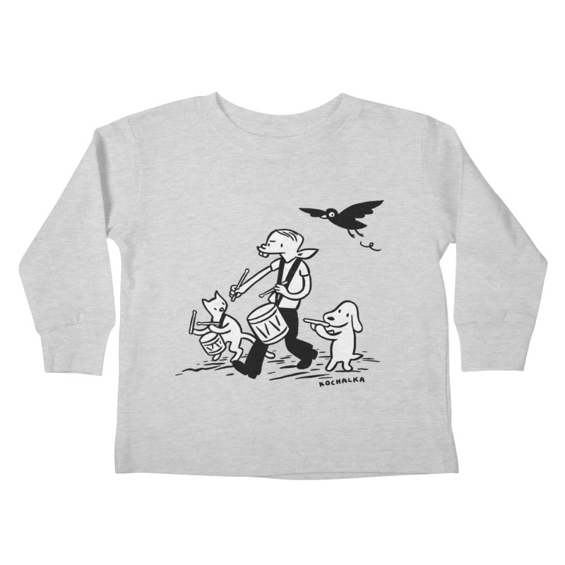Liberty on the March by James Kochalka Kids Toddler Longsleeve T-Shirt by COMIC BOOK LEGAL DEFENSE FUND