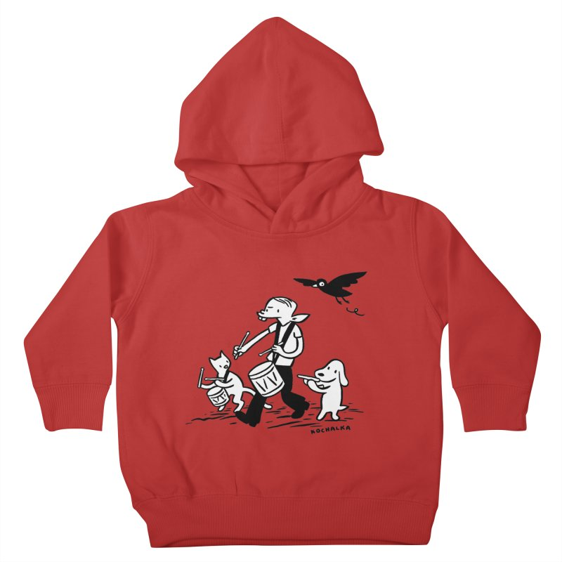 Liberty on the March by James Kochalka Kids Toddler Pullover Hoody by COMIC BOOK LEGAL DEFENSE FUND