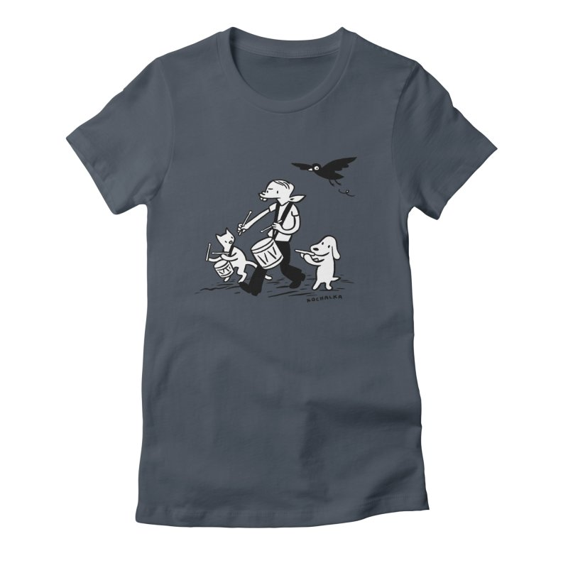 Liberty on the March by James Kochalka Women's T-Shirt by COMIC BOOK LEGAL DEFENSE FUND