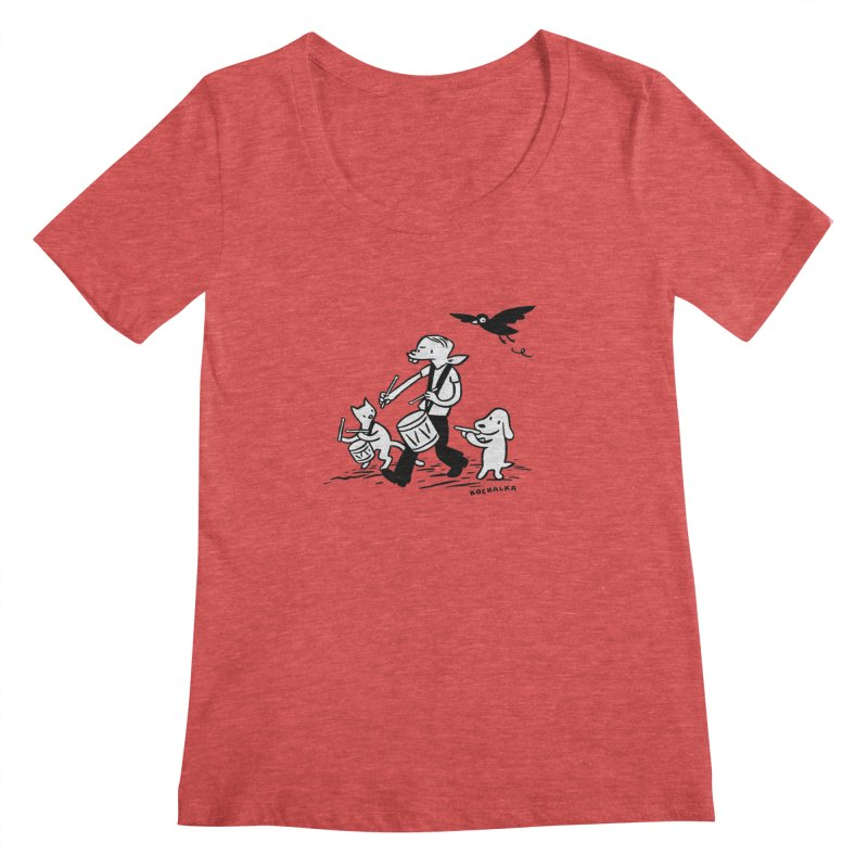 Liberty on the March by James Kochalka Women's Regular Scoop Neck by COMIC BOOK LEGAL DEFENSE FUND