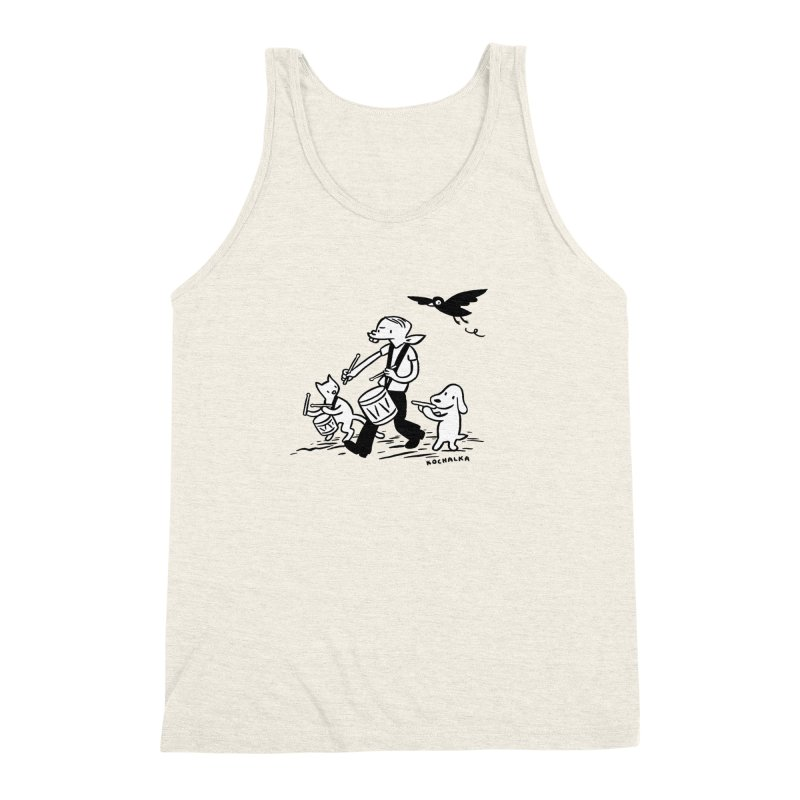 Liberty on the March by James Kochalka Men's Triblend Tank by COMIC BOOK LEGAL DEFENSE FUND