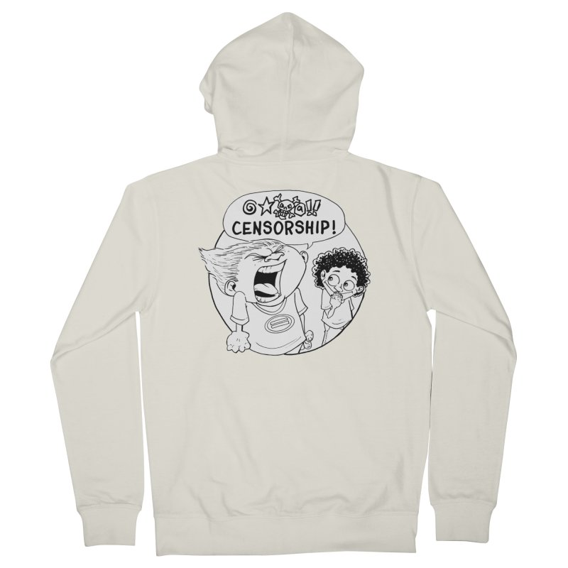BARRY WEEN (POLITE) by JUDD WINICK Women's French Terry Zip-Up Hoody by COMIC BOOK LEGAL DEFENSE FUND