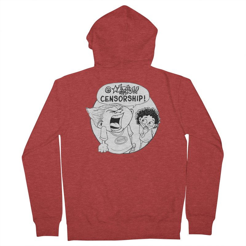 BARRY WEEN (POLITE) by JUDD WINICK Men's French Terry Zip-Up Hoody by COMIC BOOK LEGAL DEFENSE FUND