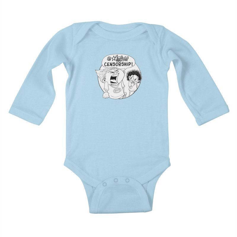 BARRY WEEN (POLITE) by JUDD WINICK Kids Baby Longsleeve Bodysuit by COMIC BOOK LEGAL DEFENSE FUND